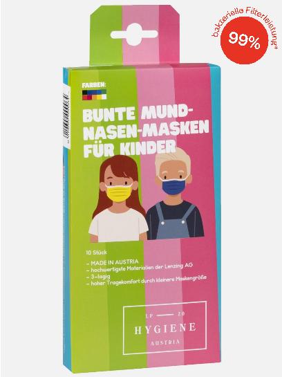 Mund-Nasen-Masken Kinder 10er-Pack